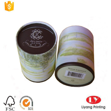 Round cardboard tube tea packaging gift box