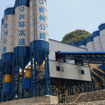HZS120 complete high quality concrete batching plant
