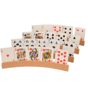 Wooden playing card holder poker holder
