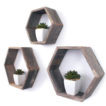 Rustic Farmhouse Floating Hexagon Shelves