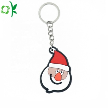 New Decoration Fashion Christmas PVC Keychain
