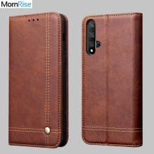New Vintage Leather Flip Cover For Huawei Nova 5T Wallet Luxury Card Stand Magnet Book Cover Casual Mobile Phone Case Fundas