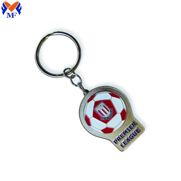 Metal Custom Football Club Enamel Keychain