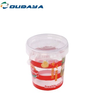 800ml tamper evide iml container with cover