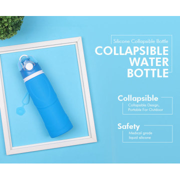 Outdoor Training Sport Filter Silicone Water Bottles
