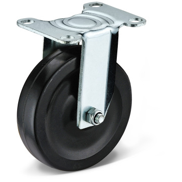 The Black Rubber Fixed Casters
