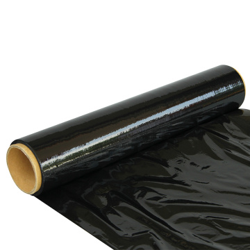 Black stretch film wrap