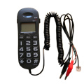 Trimline Corded Telephone Landline with Caller ID, Flash, Redial, Mini Big Buttons Handsets Phone for Home Hotel- White, Black