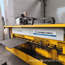 Automatic hardfacing plate welding machine