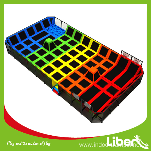Large sized square trampoline