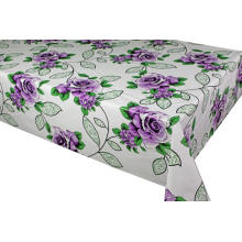 Pvc Printed fitted table covers 132 Inch Round