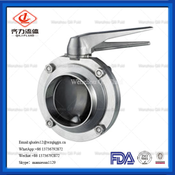 Stainless Steel Threaded Welding Butterfly Valve