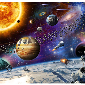 GIBBON Space Traveler Adult Jigsaw Puzzles
