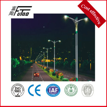 double-arm hot dip galvanized street light pole