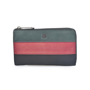 Long Wallet Black Red Leather Travel Holiday Gift
