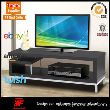 Convenient Corner Black Small TV Cabinet with Shelves