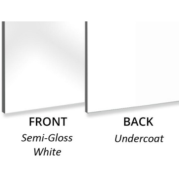 Aluminium composite panel Semi-Gloss White