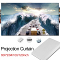 Projector Curtain Soft Projector Screen 16:9 72/84/100/120 inch Home Theater Classroom Projection Screen Cinema