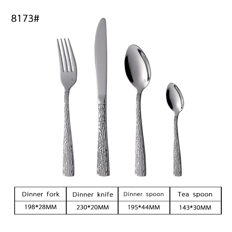 Decorative Pattern Flatware Set Wooden Box