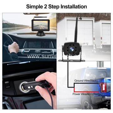Rear View Camera System Reversing Aid 5Inch Digital Wirless Camera and Monitor Kit