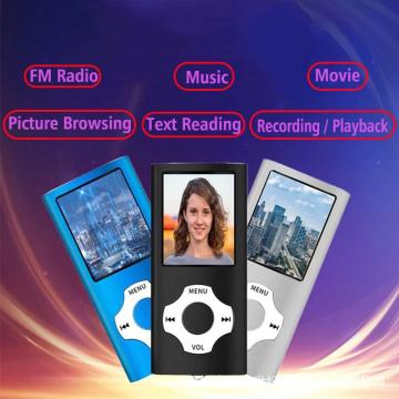 Hifi Mini Mp3 Player Music Sports Walkman with Earphone Fm Radio 1.8 Inch Lcd Screen 8G 16G 32G Micro SD TF Card mp4 player