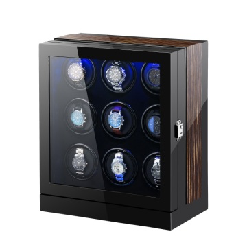 Watch Winder With Quiet Rotors For 9 Watches