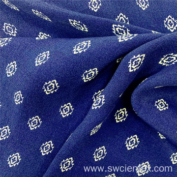 Blue Cheap 100% Rayon Printed Dress Woven Fabric