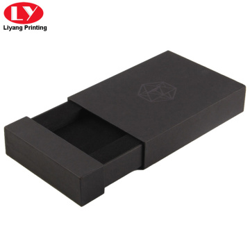 Printed luxury of black drawer box with foam