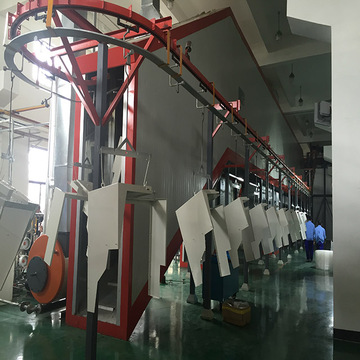 Latest technology electrostatic powder coating line