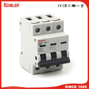 DIN Rail Isolator switch KORLEN KNH1 100A 2p