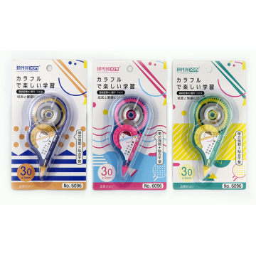 Cartoon Mass Correction Tape Students Gai Zheng Dai Correction Correction Tape Modern Aesthetic 6096 Classic 30M Synthetic Resin