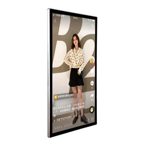"65"" LCD touch mobile live broadcast display screen"