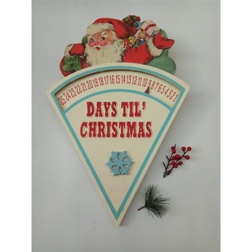 Wooden Christmas Calendar Hanging