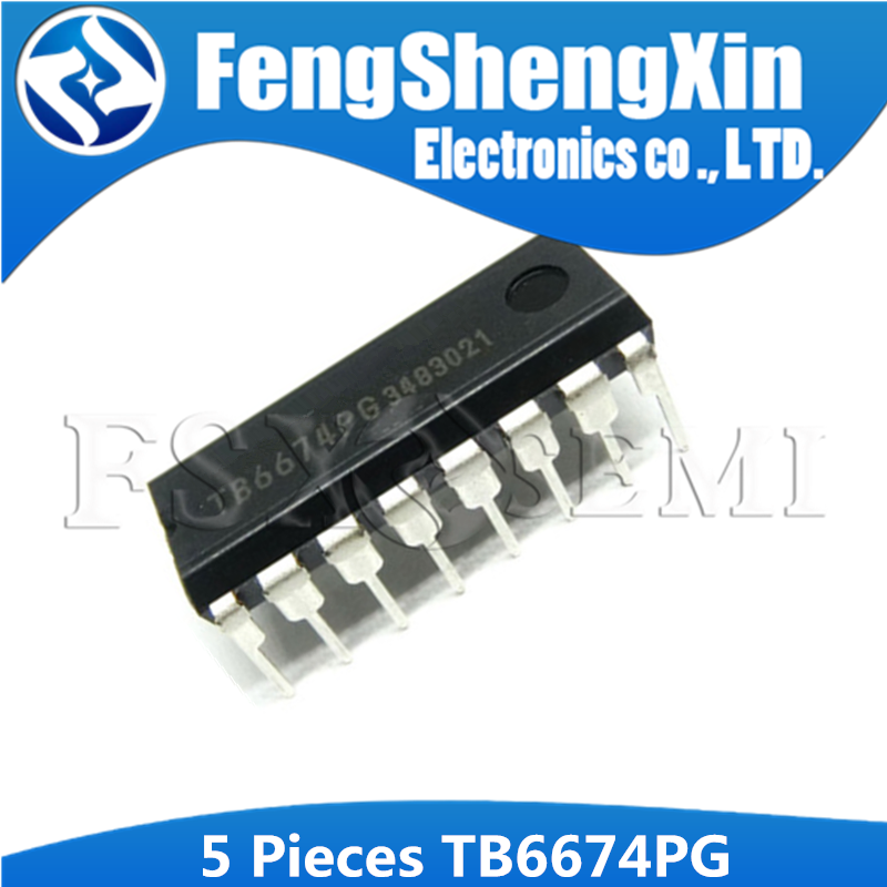 5PCS TB6674PG DIP-16 TB6674 DIP 6674PG DIP16 BiCD Integrated Circuit Silicon Monolithic