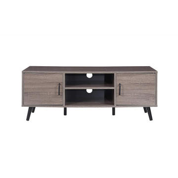 Oak Rustic TV Stand Furniture With Solid Legs