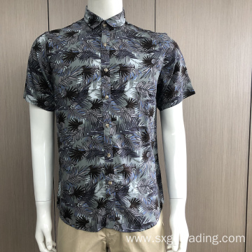 2020 Men's print short sleeve shirt