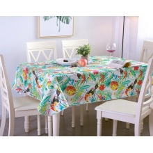 Tablecloth PE with Needle-punched Cotton Chinese Painting