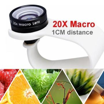 Mobile Phone Macro Lens 20X Super Cellphone Macro Lenses 10 Only For Huawei iPhone 7 Use xiaomi Distance 1cm 8 Samsung 6 L3D5
