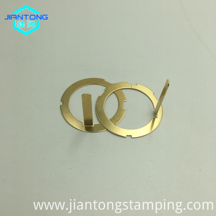 custom sheet metal clips die stamping small brass part