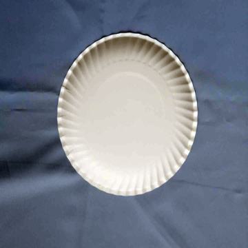 "6 "" Paper Plates Embossed White Plate Customized"