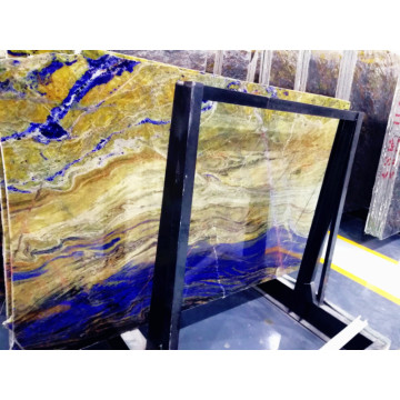 Semi Precious Blue Granite Clear Transparent StoneTiles