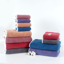 quick dry coral fleece towel set
