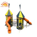 Environmental HPL Double Activity Tower Playground For Kids