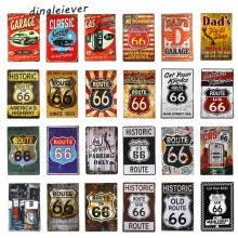 DL- The Mother Road -- ROUTE 66 retro painting nostalgic souvenirs metal crafts home decoration