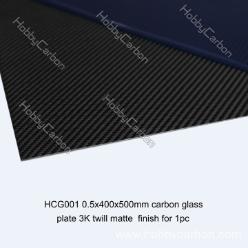 Twill matte carbon fiber sheet for race cars