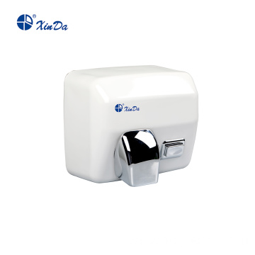 Quick and convenient hand dryer with button