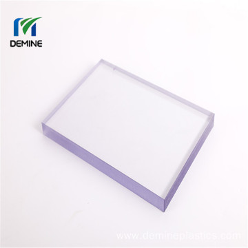 Double hard coated shatterproof polycarbonate windshield