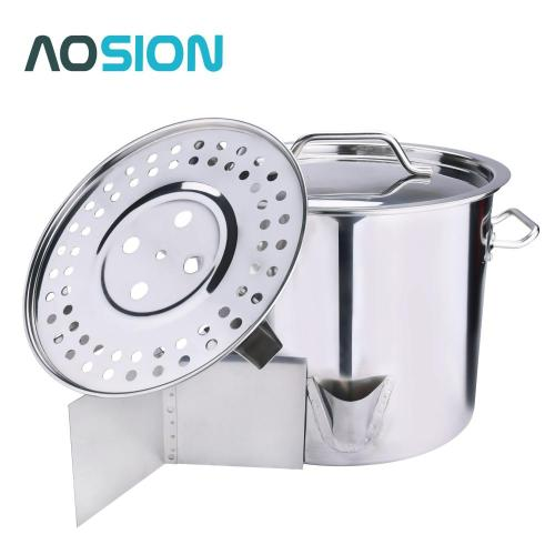 24QT Stainless Steel Stock Pot with Lid