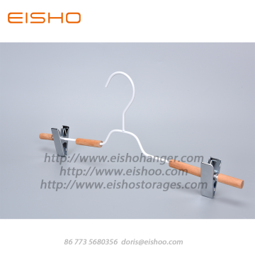 EISHO New White Wooden Metal Pants Hanger
