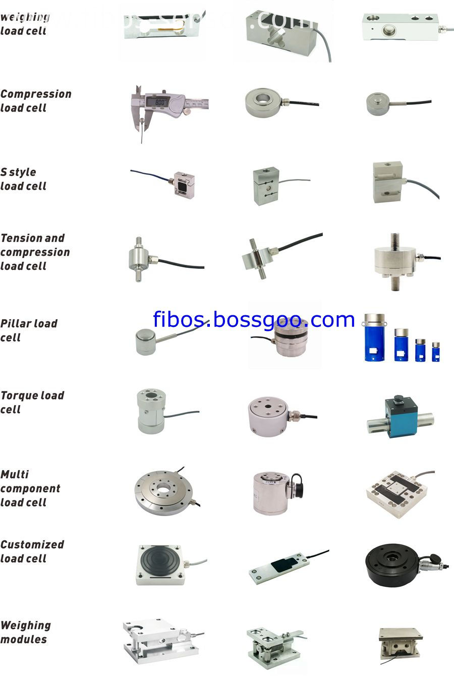 Sensor load cell catalog